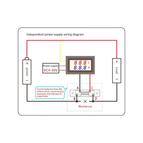 Dc0 100v 10a 50a 100a Digital Amp Volt Meter Voltmeter Ammeter Led Current Shunt Other Test Meters Detectors Business Industrial Sidra Hospital