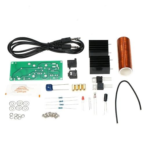 DC 15 ~ 24V fai da te Mini musica Tesla bobina altoparlante al plasma Kit Set modello di trasmissione senza fili di esperimento