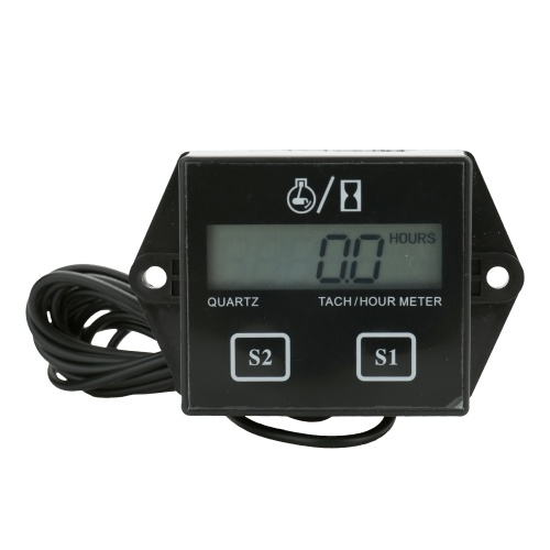 LCD Digital Display Motor Tach Hour Meter Motor Sroke Motor Car Motorcycle Boat Velocímetro