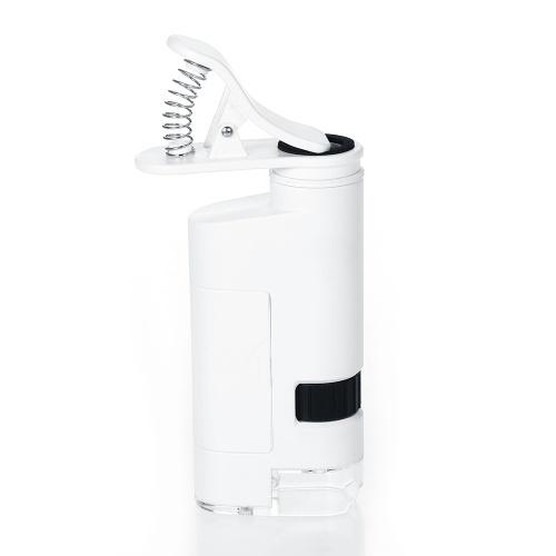 80-120X Светодиодный микроскоп для мобильного телефона Универсальный клипсовый микроскоп для мобильного телефона Лупа со светодиодной лампой Лупы Лупа