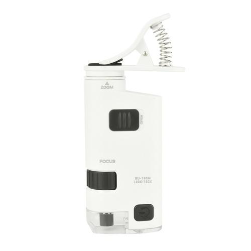 120-190X Светодиодный микроскоп для мобильного телефона Универсальный клипсовый микроскоп для мобильного телефона Лупа со светодиодной лампой Лупы Лупа
