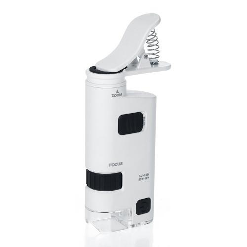 40-60X светодиодный микроскоп для мобильного телефона Универсальный клипсовый микроскоп для мобильного телефона Лупа со светодиодной лампой Лупы Лупа