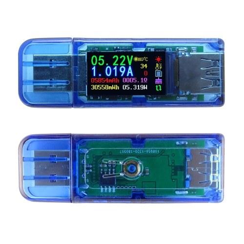 Tester di corrente multifunzionale USB Display LCD Tensione di corrente Display LCD Tensione USB