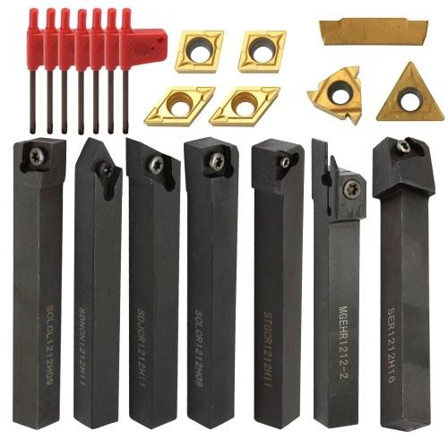 21шт многофункциональный твердосплавные вставки держатель расточной оправки с гаечными ключами для токарных станков