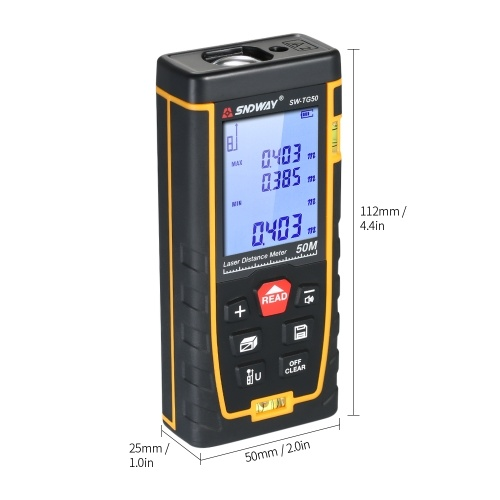 SNDWAY SW-TG100 Handheld Digital Laser Distance Meter (100m)