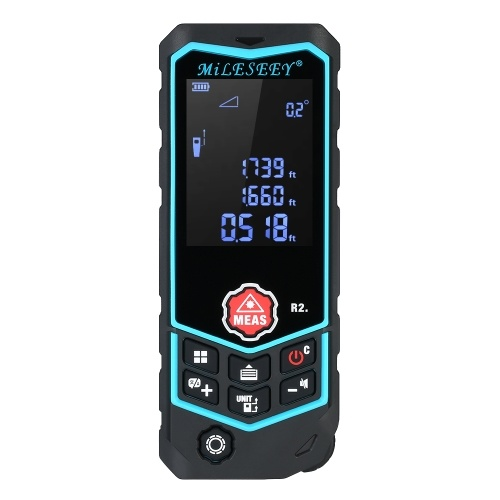 MiLESEEY Laser Distance Meter Portable Rechargeable Range Finder 100m