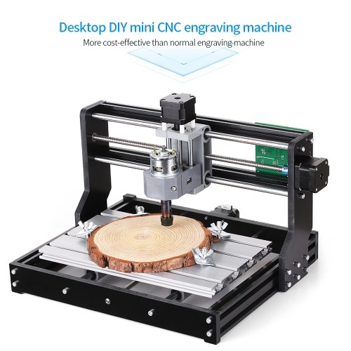 CNC3018 DIY CNC Router Kit 2-in-1 Mini Laser Engraving Machine GRBL Control 3 Axis for PCB PVC Plastic Acrylic Wood Carving Milling Engraving Machine with ER11 Collet and Protective Glasses XYZ Working Area 300x180x45mm 100-240V