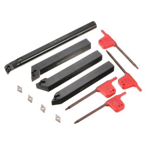 S12M-SDUCR07 SDJCR / SDJCL / SDNCN1212H07 Drehwerkzeughalter Drehwerkzeug + 4 Stück DCMT0702 Einsätze + 4 Stück T8-Schlüssel