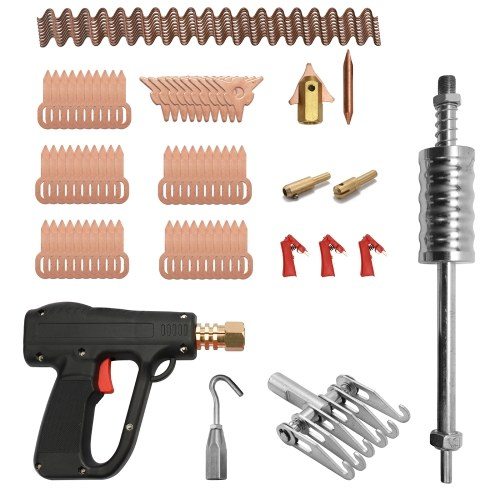81 pcs Dent Extracteur Kit De Réparation De Carrosserie Outils De Soudage Par Soudure Électrodes Spotter Soudeuse Machine Enlever Straightenging Dents Remover Dispositif