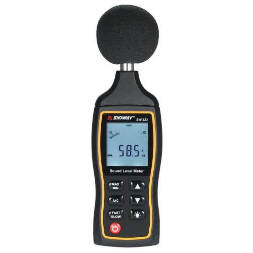 SNDWAY High Accuracy LCD Digital Noisemeter Sound Level Meter 30-130dB Noise Volume Measuring Instrument Decibel Monitoring Tester with A and C Frequency Weighting for Sound Level Testing