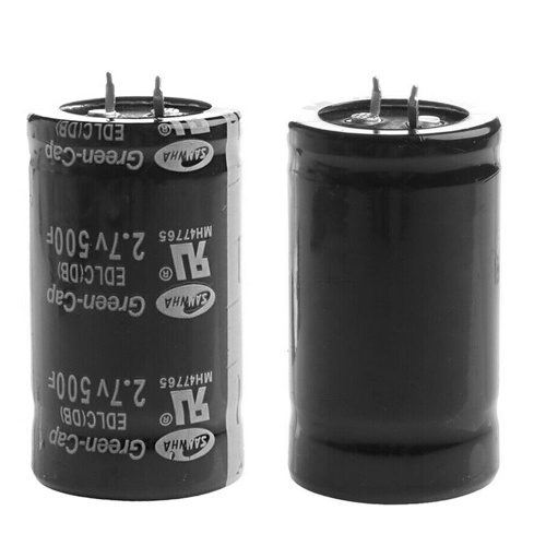 10pcs 2.7V 500F Capacitors Car Capacitor Farad Capacitor Super Farad Capacitor 35*60mm