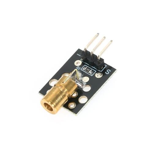 10 шт. Лазерная Головка Модуль Датчика 5 В Лазерная Трубка Лазерный Диод Лазерный Точка Модуль Медной Головки Датчик KY-008 Лазерный Модуль для Arduino фото