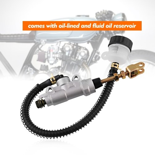 Universal Motorrad Hauptbremszylinder Pumpe mit Reservoir Für Honda Sportrax 400 TRX400EX 1999-2008