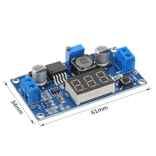 LM2596 Преобразователь напряжения понижающего напряжения Модуль постоянного тока 4,0 ~ 40–1,25–37 В 2A Регулируемый регулятор напряжения с цифровым дисплеем вольтметра фото
