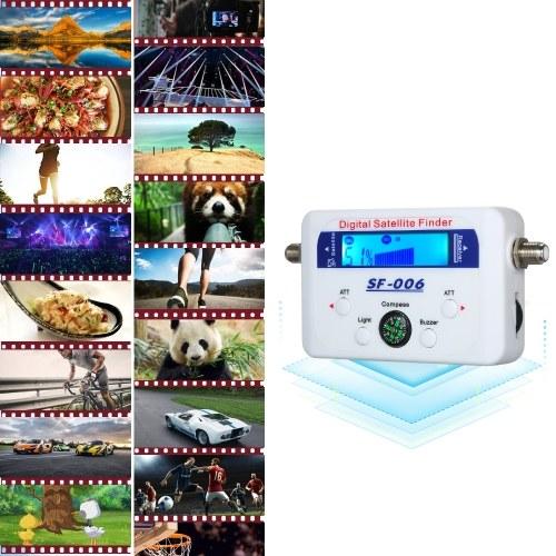 Digitaler Satellitensucher Satellitensignalmesser Mini Digitaler Satellitensignalmesser mit LCD-Display Digitaler Satfinder mit Kompass