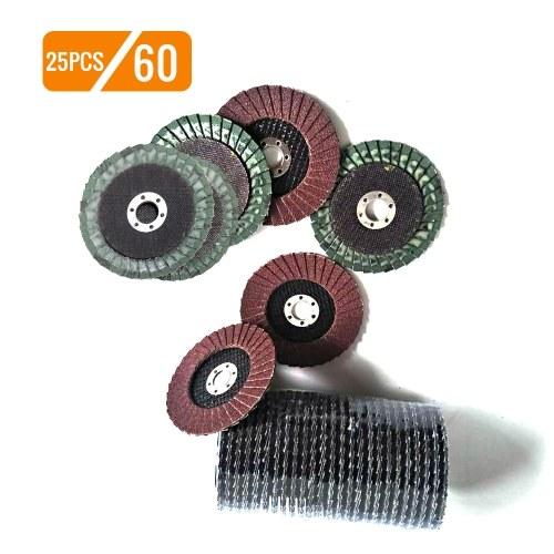 25pcs 100mm disco calcare lamellare ossido di alluminio calcinato ad alta densità premium confezione da 25 pezzi disco abrasivo ruote abrasive mola abrasiva