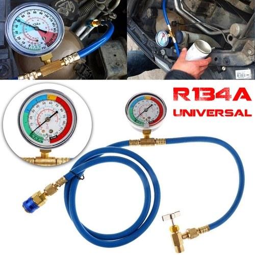 再充電測定ホース1.5m R134Aカーエアコン冷媒圧力計再充電充電ホース