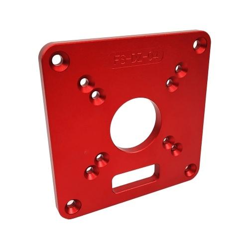 アルミルーターテーブルインサートプレートレッドユニバーサル木工機用ユニバーサルトリミングマシンフリップボードベンチルーターテーブルプレート