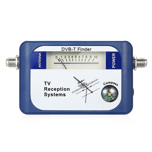 DVB-T Digital Satellite Finder Signal Meter Antena de TV terrestre aérea com sistemas de recepção de TV por bússola