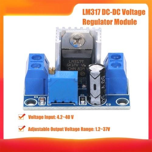 LM317 Модуль понижающей платы понижающего преобразователя постоянного тока с переменным током Переменный источник питания постоянного тока 4.2 ~ 40 В до 1.2 ~ 37 В Регулируемый преобразователь напряжения Модуль регулятора напряжения