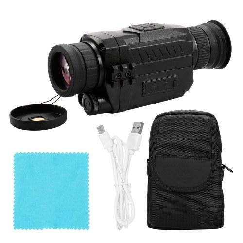 NV0535 Ночного Видения 5X Оптический 8X Цифровой Зум Инфракрасный Цифровой Vedio Camera 200 м Диапазон Монокуляр Сфера