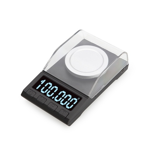 Portable Digital Scale Gold Jewelry Scale Powder Scale Mini Pocket Electronic Scale Professional Digital Milligram Scale High Precision 100g*0.001g DH-8068