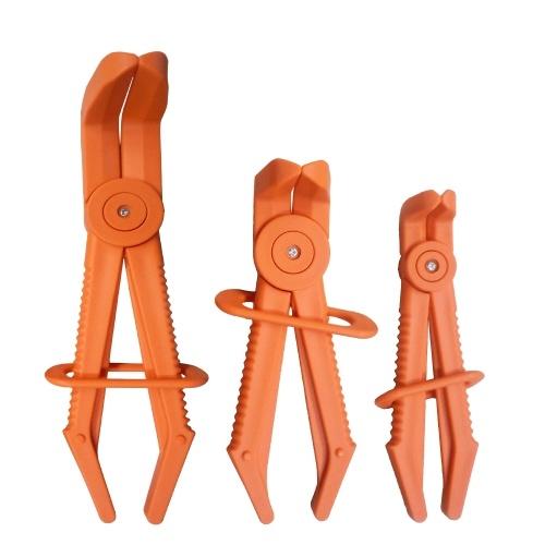 3Pcs Plastic Flexible Hose Clamp Tool Set Brake Fuel Water Line Clamps Plier Kit Nylon Hose Pinch Pliers Set