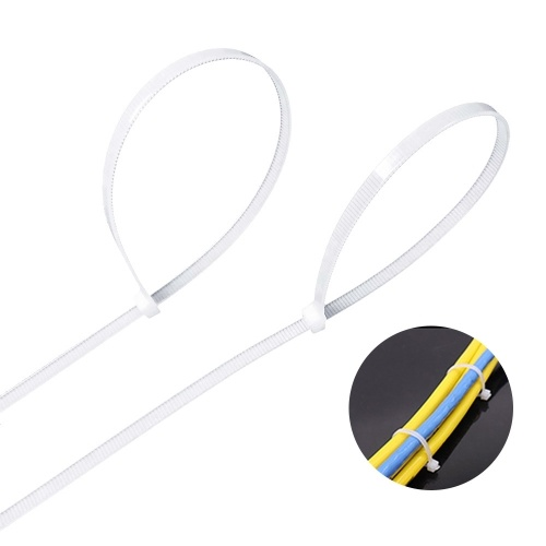 Portable Durable Fastness White Lastics Self Locking Nylon Cable Tie