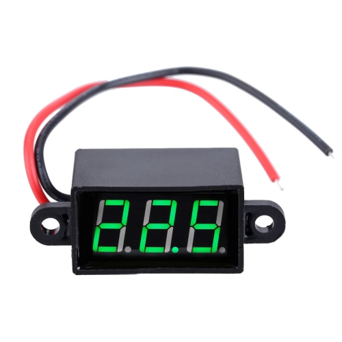 3.5-30V Mini Water-proof Voltmeter 3-Digital High-accuracy LED Screen Voltage Tester Meter Voltimetro