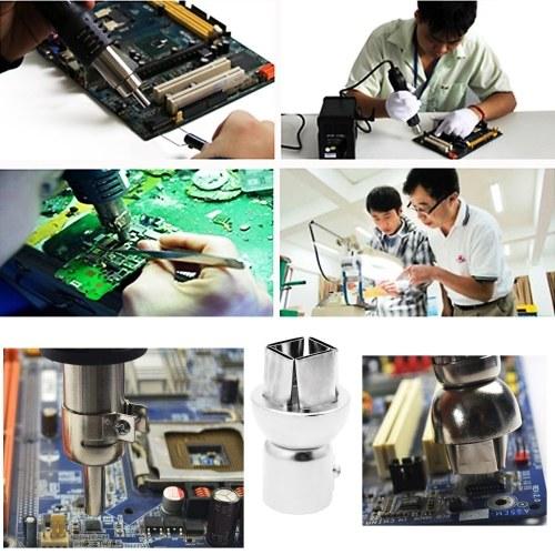 12Pcs Universal Hot Air Generator Nozzles Heat Resistant Round and Square Heat Air Machine Solder Set Soldering Tip Tool 3/4/5/6/7/8/10/12/10*10/12*12
