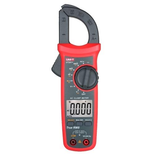 UNI-T UT201+ 4000 Counts Digital Clamp Meter True RMS Multimeter Clamp Ammeter Voltage Meter NCV Test Universal Meter Tester AC Current Clamp Tester