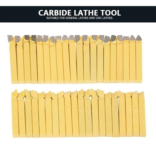 20pcs 1/4 Inch Metal Lathe Tooling Carbide Tip Tipped Cutter Tool Bit Cutting Set High Hardness Turning Milling Welding Bit