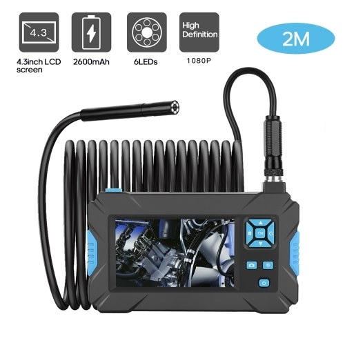 P30 Blue Hand-held Endoscopes Industrial 4.3inch High-definition 1080P Display Screen Borescope