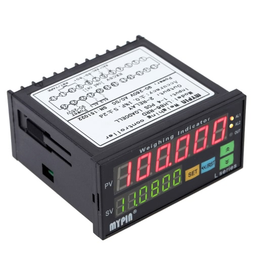Digital Weighing Controller Load-cells Indicator 1-4 Load Cell Signals Input 2 Relay Output 6 Digits LED Display