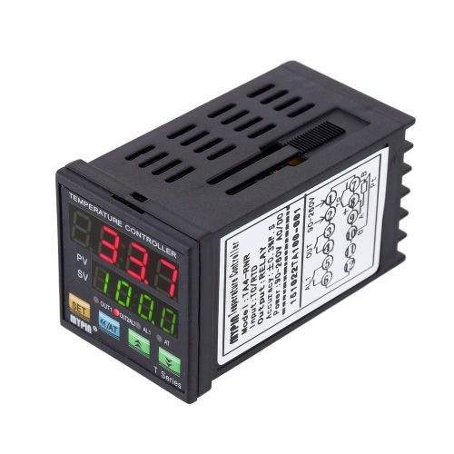 Digital LED PID Temperature Controller Thermometer Heating Cooling Control SSR 2 Alarm Relay Output TC/RTD