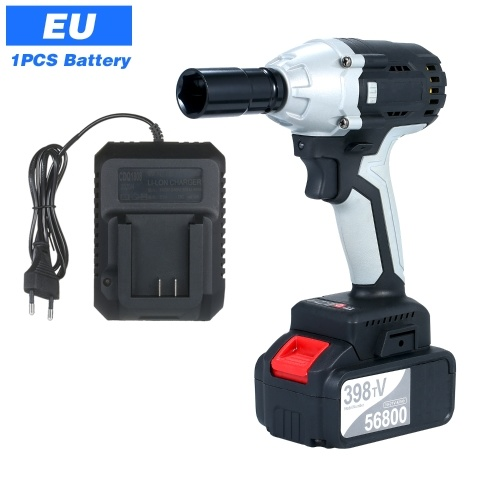 Brushless Impact Wrench Cordless Electric Impact Wrench with 1/2in Chuck 980 Torque 4.0A Battery with Driver Impact Sockets