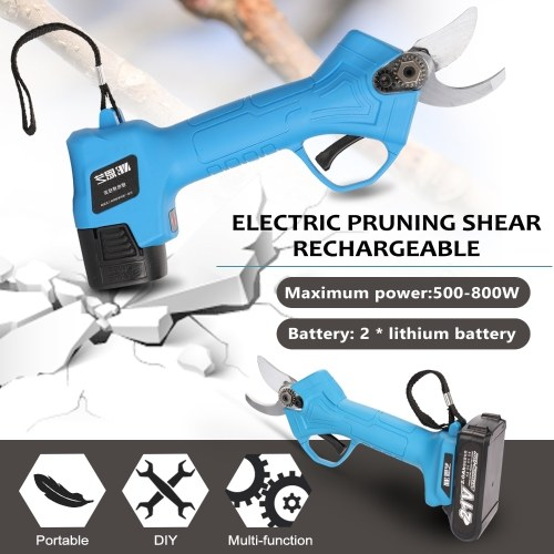 Electric Pruning Shear Rechargeable Home Garden Scissors Cordless Secateur Fruit Tree Branches Cutter