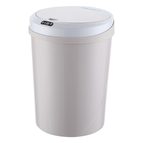Household Intelligent Induction Trash Can Kitchen Living Room Bedroom Bathroom Automatic Induction Electric Kick Bump Storage Bucket with 12L Capacity