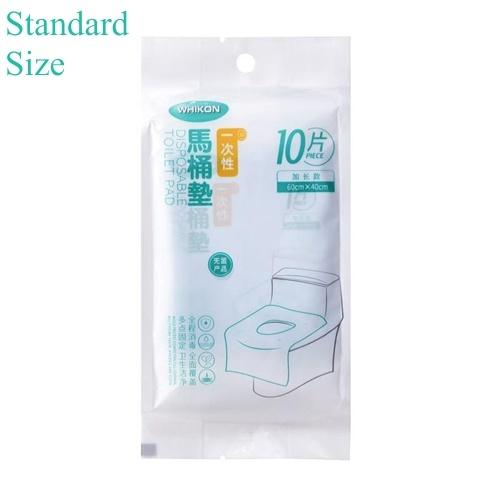 10 Stück Einweg-Toilettensitzbezüge Spülbare Toilettensitzbezüge Verbrauchbare Toilettenpapiermatte Umweltfreundliches Reisegadget Tragbares Badezimmerzubehör Standardgröße