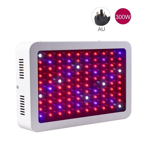 300W LED Grow Light Bulbs Full Spectrum UV IR Red Blue White Hydroponic Growing Lamp for Seed Starting Greenhouse Vegetable Flower