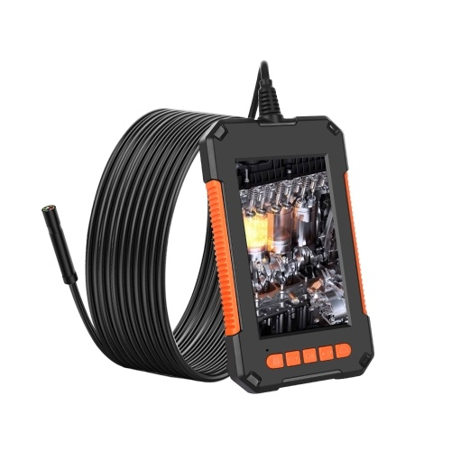 4.3 Inch Color LCD Screen High Definition 1080P IP67 Handheld Endoscope Industrial Home Endoscopes with 8 LEDs 8mm Camera Diameter (Hard wire 2M)