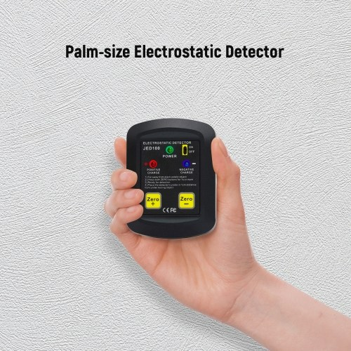 Palm-size Electrostatic Detector Portable Electrostatic Tester Electrostatic Analyzer 100V~20KV ESD Test Meter Gauge