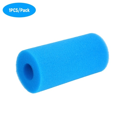 Swimming Pool Filter Cleaning Tool Reusable Washable Foam Sponge Filter Cartridge Replacement for Type A Filter Blue 20*10*10cm 1PCS/Pack