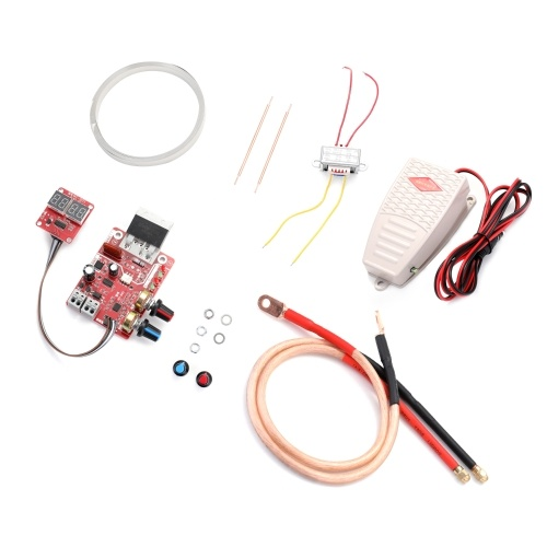 NY-D01 Battery Spot Welding Machine Set Digital Display Control Board 100A with Spotwelding Pen 9V Transformer and Metal Foot Pedal
