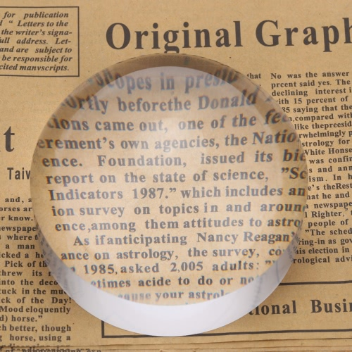 5 x 80mm pisapapeles de cristal acrílico cristal domo lupa mapa herramienta Lupa para leer la ayuda