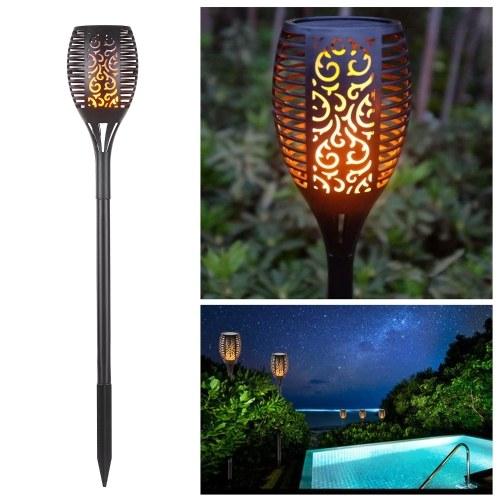 Solar Light Waterproof Flickering Flame Torch Light 96 LED Outdoor Lighting Solar Powered Pathway Li