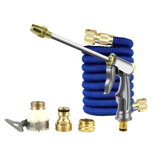 Pulverizador de alta presión + tubo de manguera de 7.5M + conectores de metal Set Limpieza de lavado de autos