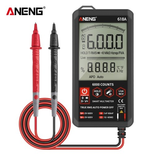 ANENG Digital Autoranging Multimeter with Audible Continuity True RMS Backlit