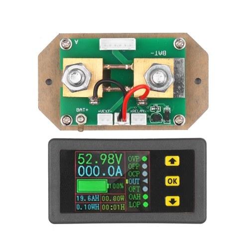 90V0-100AデジタルLCDディスプレイ電量計双方向電流測定電圧計電流計電力計電圧電流エネルギーモニター