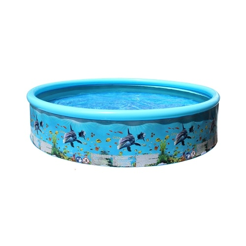 Kids Inflatable Swimming Pool  Foldable Casual Household PVC Air Inflation Pools 125*30cm